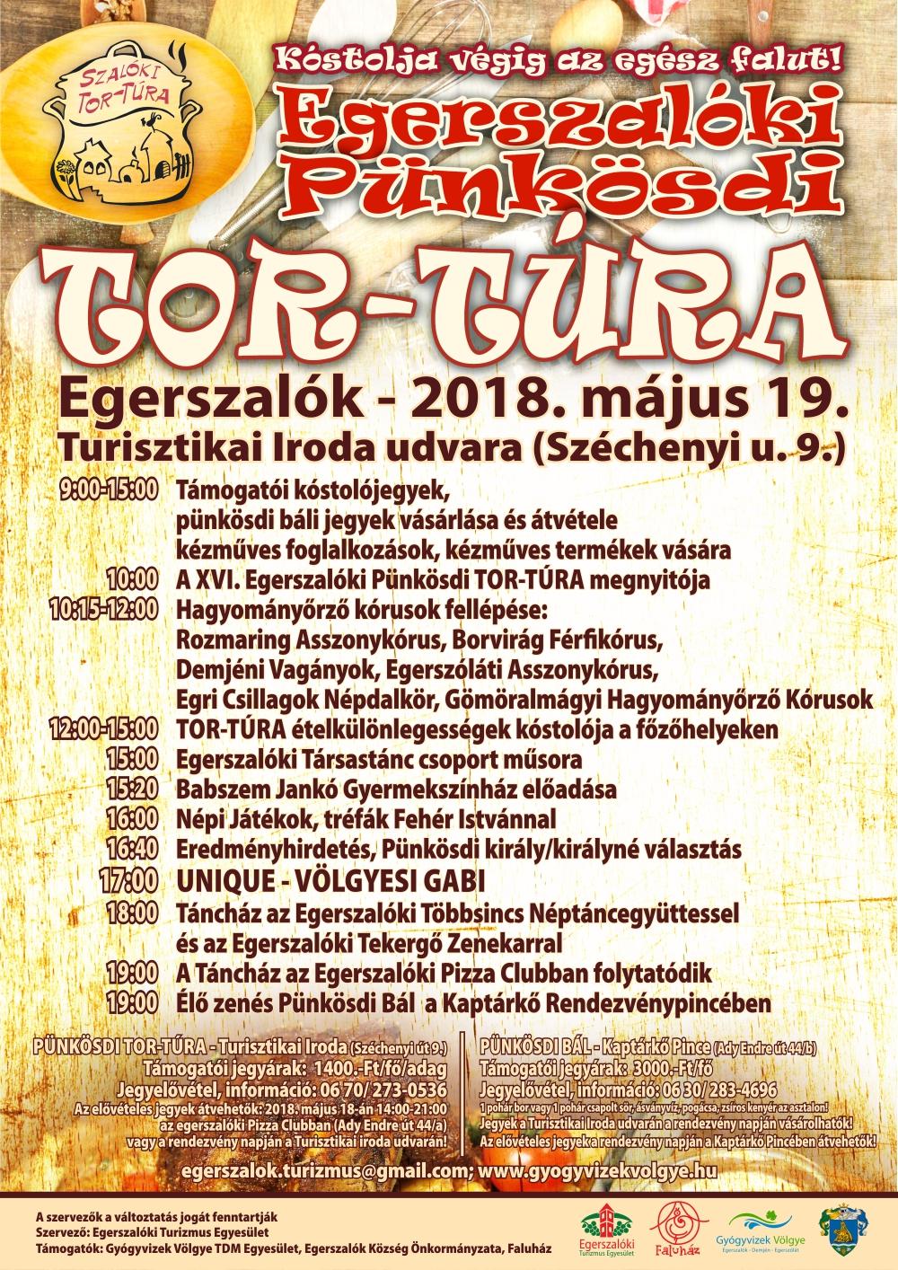 Egerszakóki Pünkösdi Tor-Túra 2019 programok